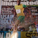 Usain Bolt signed Sports Illustrated