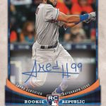 Ahmed Rosario 2018 Topps Big League Baseball autograph card