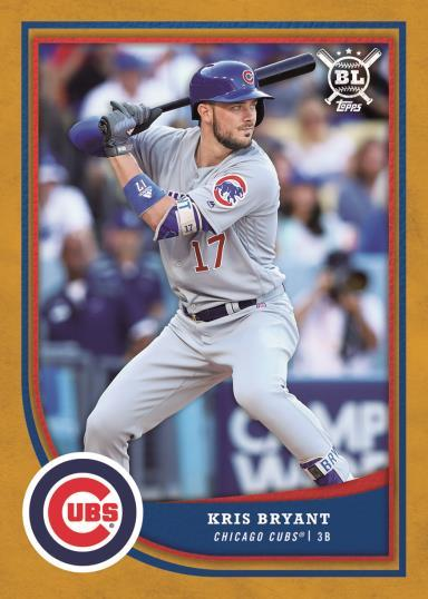 Kris Bryant 2018 Topps Big League Gold Parallel