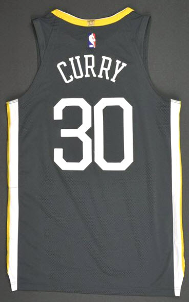 Game worn Warriors Steph Curry Town jersey