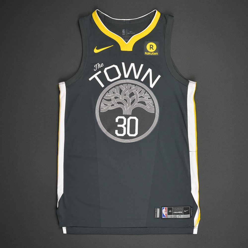 The Town Steph Curry game worn jersey