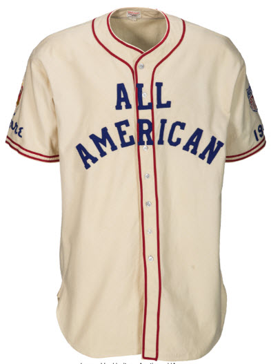 1945 All-American Game jersey Babe Ruth
