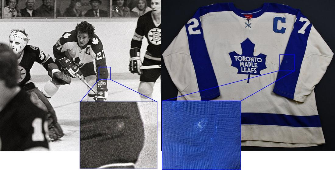 Darryl Sittler 10 points jersey photo match