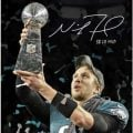 Nick Foles autographed photo Super Bowl 52