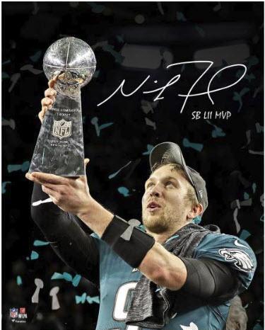 Nick Foles autographed photo Super Bowl 52