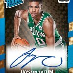 Jason Tatum autograph 2017-18 Donruss Optic basketball