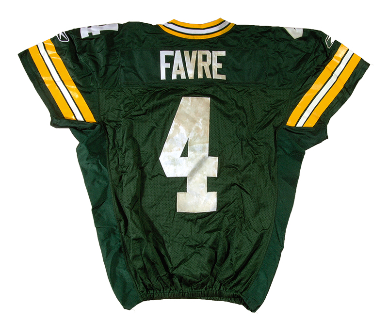 Brett Favre game worn Packers jersey 2006