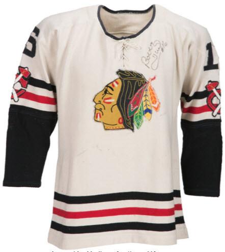 Blackhawks jersey Bobby Hull game worn