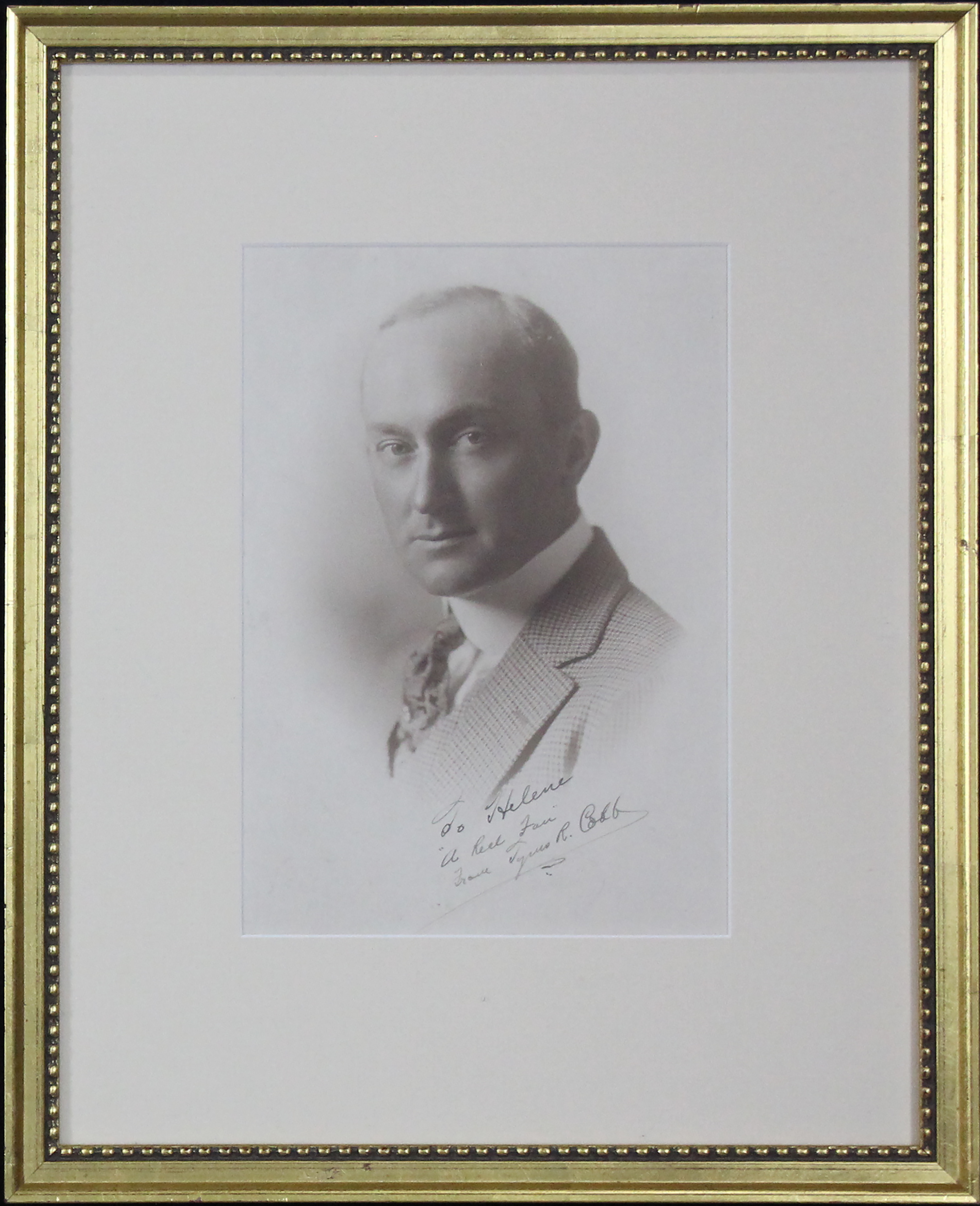 Autographed Ty Cobb photo