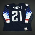 Hilary Knight game worn Olympic hockey jersey