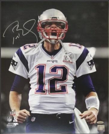Autographed Tom Brady photo