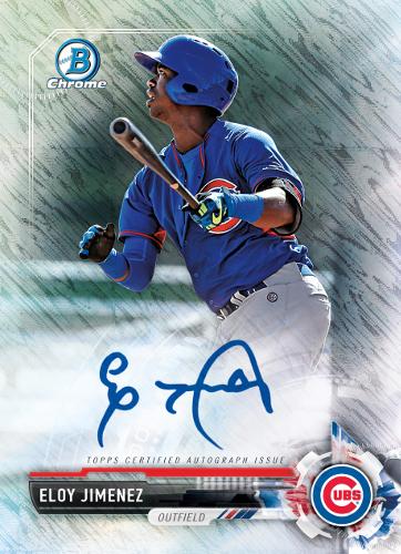 PSA 10 GEM MINT RC #BCP50 MEGA BOX Mojo REFRACTOR 2017 Bowman CHROME Prospects Chicago White Sox Prospect Baseball Rookie Card Eloy Jimenez