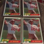 1981 Topps Joe Montana cards