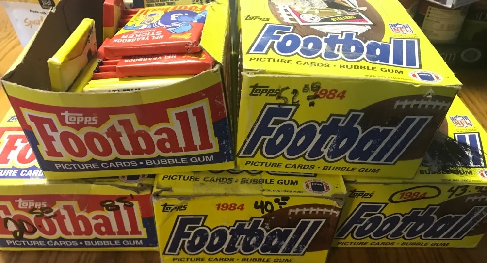 Topps football boxes 1984 1985