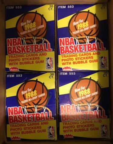 1988 Fleer basketball unopened boxes