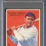 PSA 8 Babe Ruth 1933 Goudey card