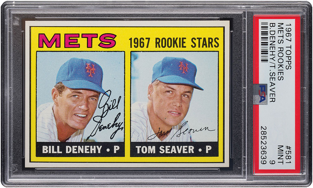 Tom Seaver rookie card Psa 9 mint