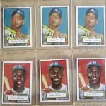 Mickey Mantle 1952 Topps card Jackie Robinson