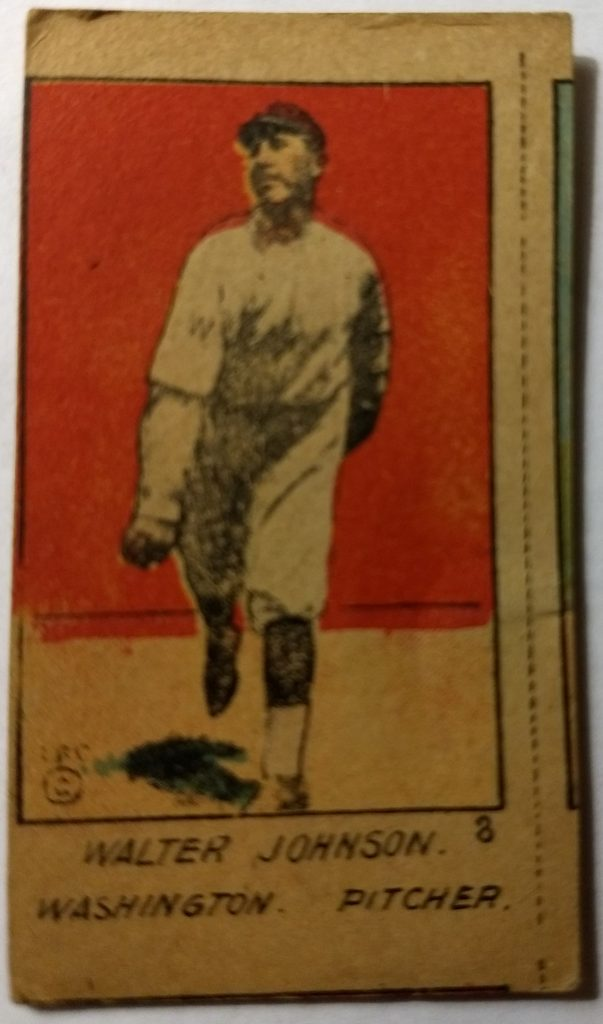 Walter Johnson W516 strip card