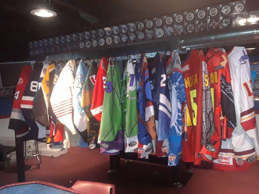 minor league hockey jerseys game worn