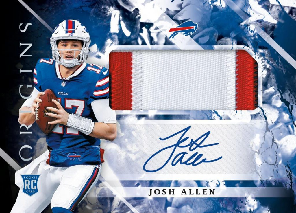 Josh Allen autograph rookie card patch Panini Origins