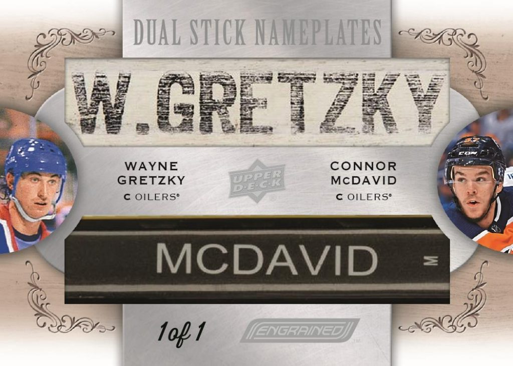 2018-19 Upper Deck Engrained Dual Stick Nameplates