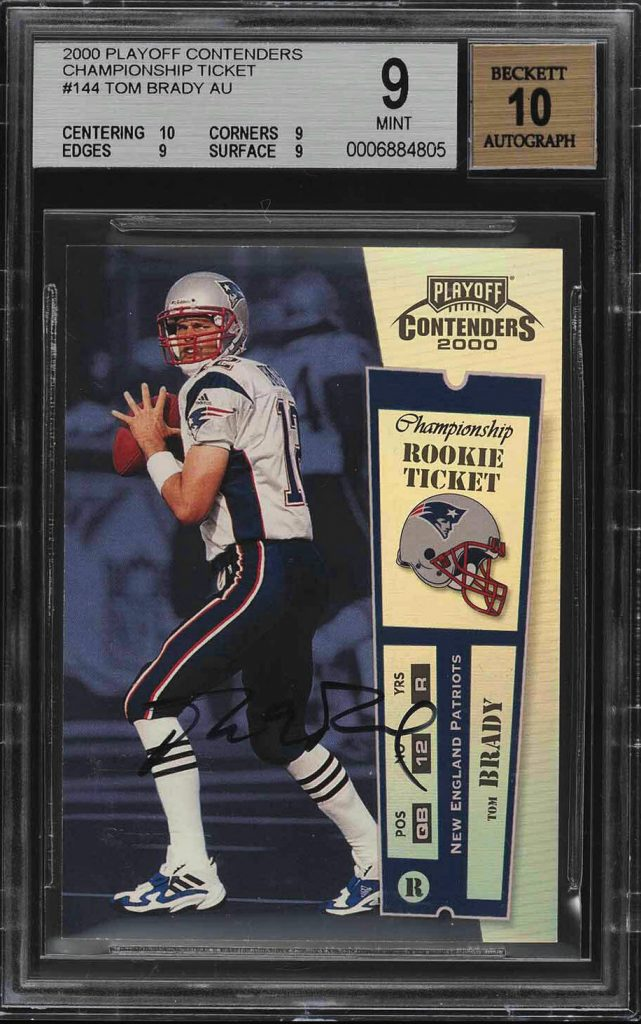 2000 Tom Brady Contenders Autographed Rookie Card Sells for $400,100