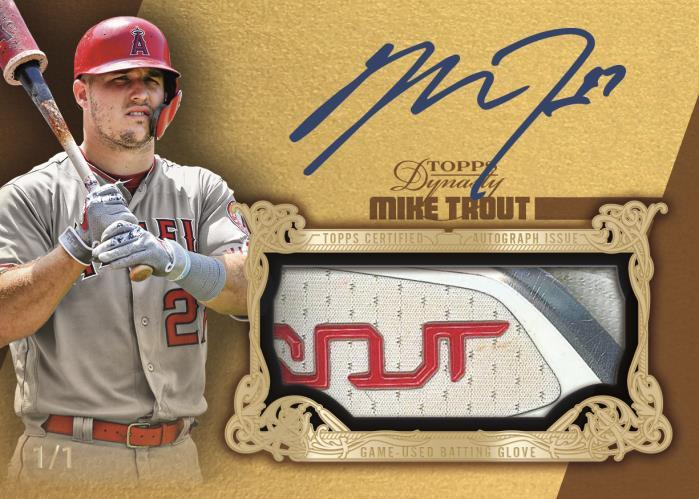 2019 Topps Dynasty Mike Trout batting glove card
