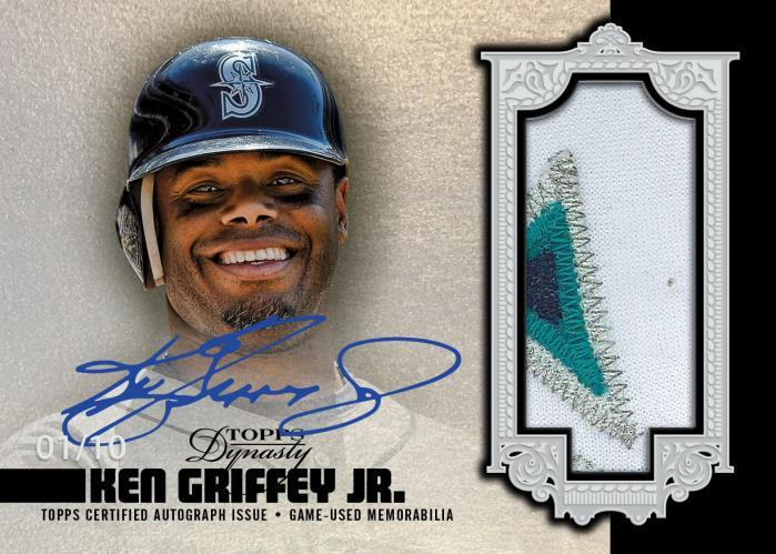 2019 Topps Dynasty Ken Griffey Jr relic autograph card
