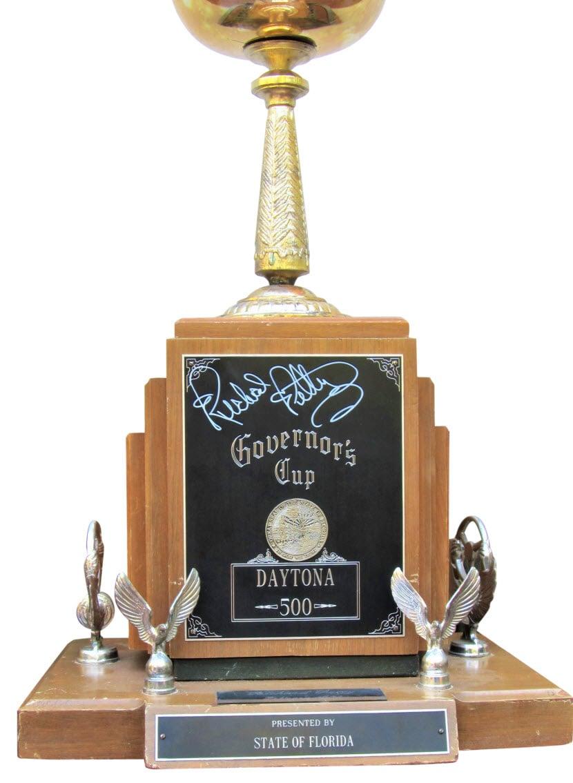 Richard Petty 1973 Daytona 500 trophy