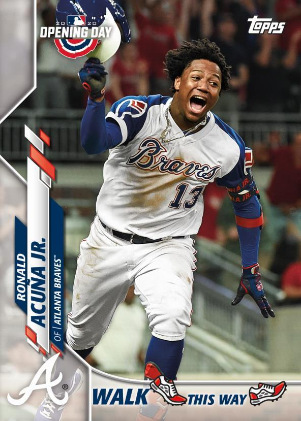 2020 Topps Opening Day Ronald Acuna walk this way