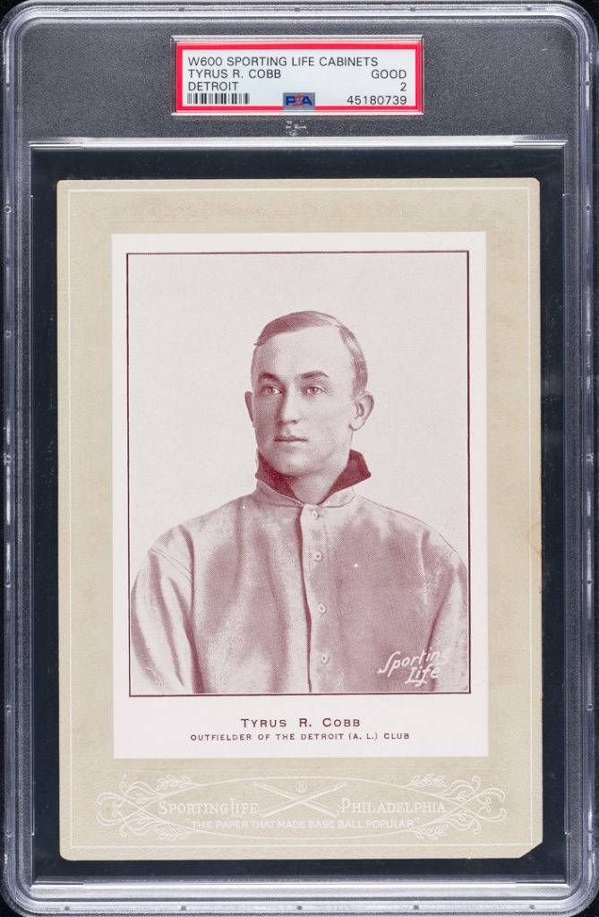 Ty Cobb W600 Sporting Life rookie card REA