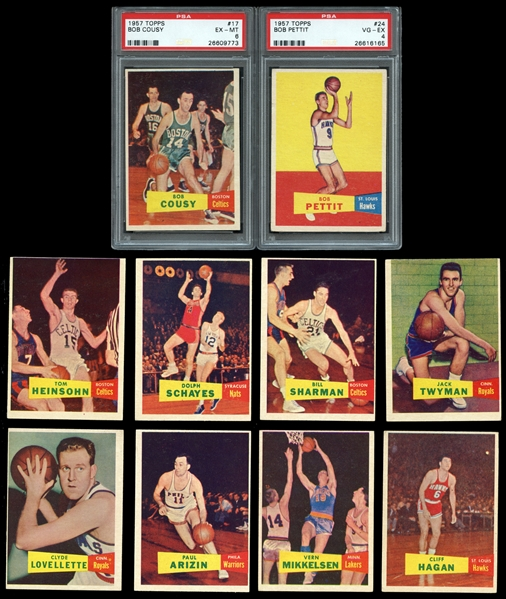 1957-58 Topps basketball near set