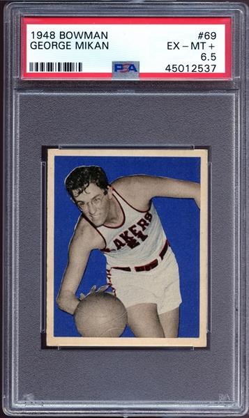 Bowman George Mikan rookie card