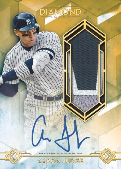 2020 Topps Diamond Icons Aaron Judge autographed relic card