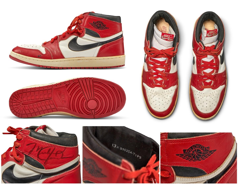Original 1985 Air Jordan Game Shoes Bring Record $560,000