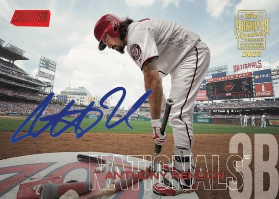 2021 Topps Archives Signature Series Anthony Rendon