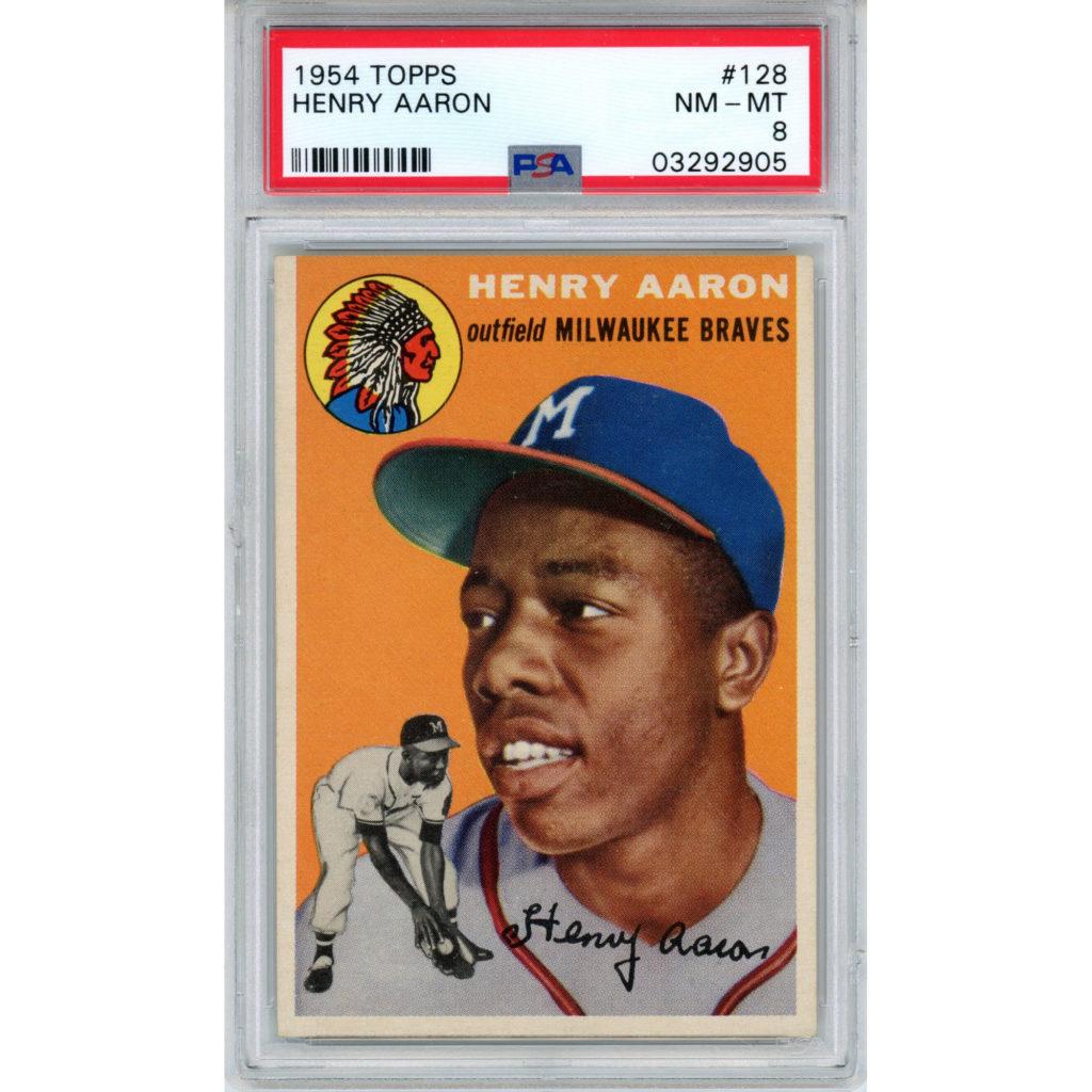 1954 Topps Hank Aaron rookie card PSA 8
