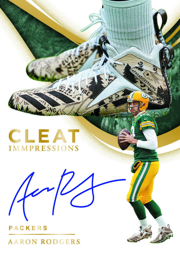 2020 Immaculate Football Cleat Impressions Aaron Rodgers