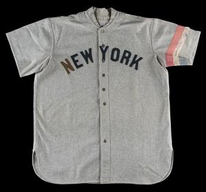Roger Peckinpaugh game worn jersey