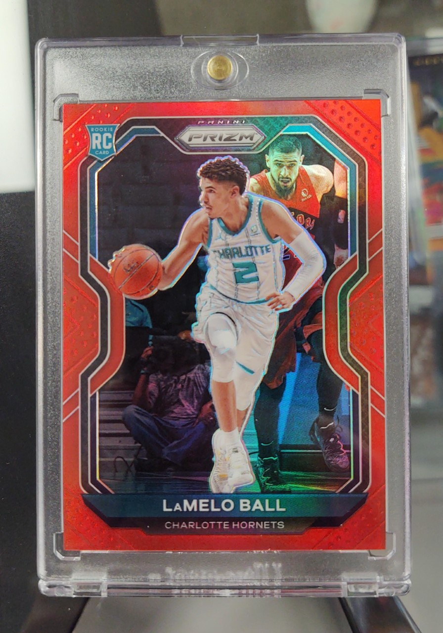 Red 2020-21 Prizm LaMelo Ball Rookie