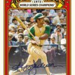1972 Topps Heritage High Number Reggie Jackson autograph