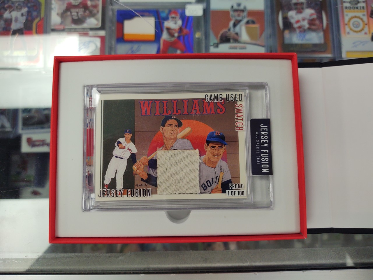 Jersey Fusion card Ted Williams