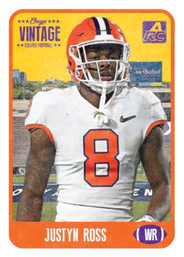 Justyn Ross football card Onyx