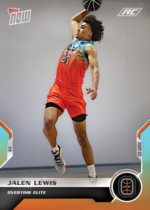 Jalen Lewis rookie card Topps Now Overtime Elite